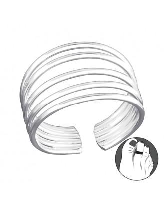 "Stříbrný prsten na nohu ""Fortior"". Ag 925/1000"