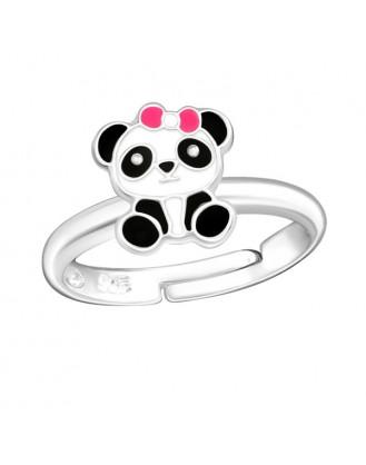"""Stříbrný prsten dětský nastavitelný """"Panda"""" I. Ag 925/1000"""