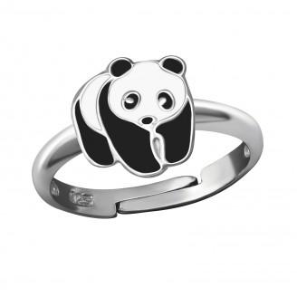 """Dětský stříbrný nastavitelný prstýnek """"Panda"""". rp. Ag 925/1000"""