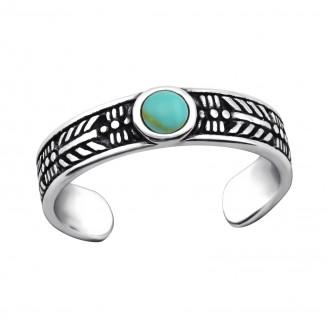 """Stříbrný prsten na nohu """"Fiducia"""". Ag 925/1000"""
