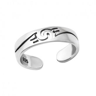 """Stříbrný prsten na nohu """"Spirála"""". Ag 925/1000"""
