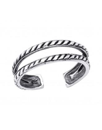 "Stříbrný prstýnek na nohu ""Virga"" ox. Ag 925/1000"