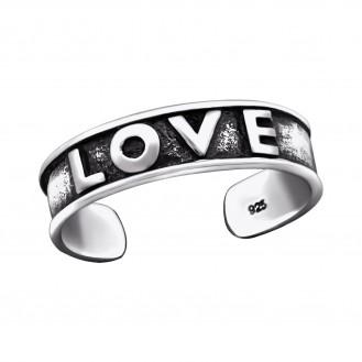 """Stříbrný prstýnek na nohu """"Love"""". Ag 925/1000"""