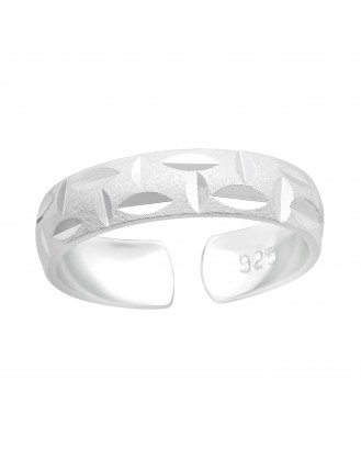 "Stříbrný prsten na nohu ""Bamboo"". Ag 925/1000"