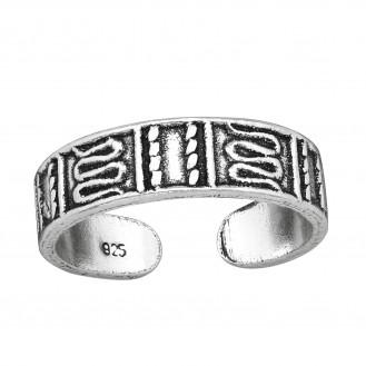 """Stříbrný prsten na nohu """"Aenigma"""". Ag 925/1000"""