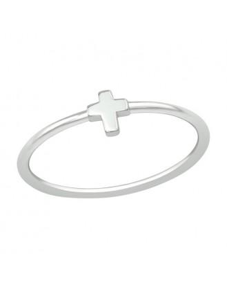 "Stříbrný prsten ""Křížek"". Ag 925/1000"