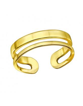 "Stříbrný otevřený prsten ""Eilish"" pozlacený. Ag 925/1000"