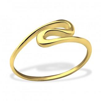 """Stříbrný prsten pozlacený """"Wave"""" GP. Ag 925/1000"""