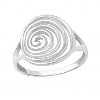 """Stříbrný prsten """"Spirála"""". Ag 925/1000"""