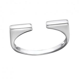 "Stříbrný prsten ""Adfectatio"". 2x21 Ag 925/1000"