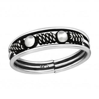 "Stříbrný prsten ""Rajské Bali"". Ag 925/1000"