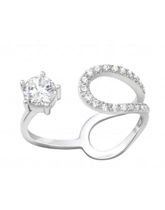 "Stříbrný prsten se zirkony ""Circum"". Ag 925/1000"
