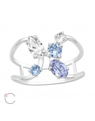 """Stříbrný prsten s krystaly Swarovski """"Katie"""". Ag 925/1000"""