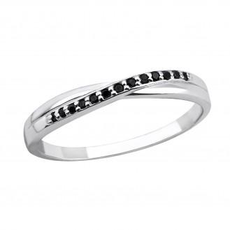 """Stříbrný prsten se zirkony """"Bríza"""". Ag 925/1000"""