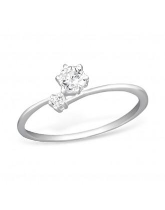 "Stříbrný prsten se zirkony ""Indivisibilis"". Ag 925/1000"