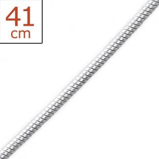 """Stříbrný řetízek """"Anguis"""". 0,9x41.sp. Ag 925/1000"""