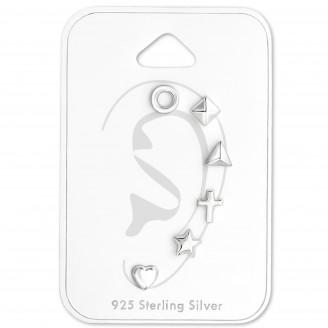 """Souprava stříbrných náušnic """"Singularis"""". Ag 925/1000"""