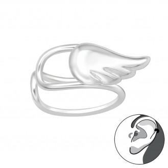"""Stříbrné záušnice """"Andělské křídlo"""". Ag 925/1000"""