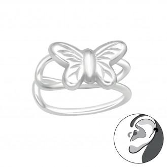 "Stříbrné záušnice ""Stříbrný motýlek"". Ag 925/1000"