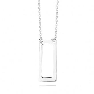 """Stříbrný řetízkový náhrdelník """"Ictum"""". 42-45. Ag 925/1000"""