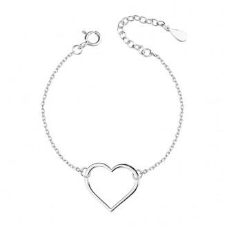 """Stříbrný řetízkový náramek """"Amor"""". 17-20. Ag 925/1000"""