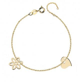 """Stříbrný pozlacený náramek """"Květina pro milovanou"""". Ag 925/1000"""