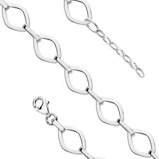 """Stříbrný řetízkový náramek """"Máxima"""". 18-20 cm. Ag 925/100"""