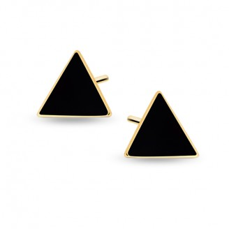 "Pozlacené stříbrné náušnice pecky ""Triangula"". Ag 925/1000"