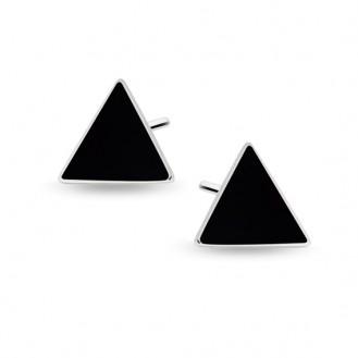 "Stříbrné náušnice pecky ""Triangula"". Ag 925/1000"