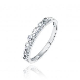 """Stříbrný prsten se zirkony """"Kelly"""". Ag 925/1000"""