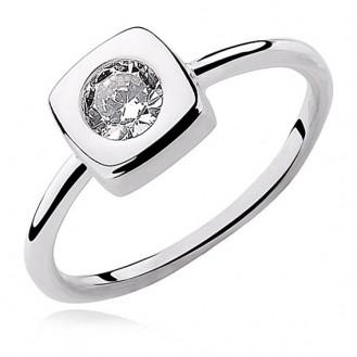 "Stříbrný prsten se zirkonem ""Primus"". Ag 925/1000"