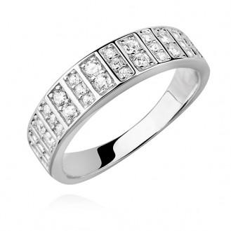 """Stříbrný prsten se zirkony """"Inspiratio"""". Ag 925/1000"""