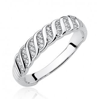 "Stříbrný prsten se zirkony ""Illuminatio"". Ag 925/1000"