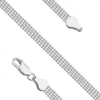 """Stříbrný náhrdelník řetízkový """"Core"""". 45x5. Ag 925/1000"""