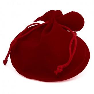 """Dárkový sáček sametový  """"Valentýn"""". 12x14 kulatý"""
