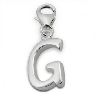 """Přívěsek stříbrný s karabinkou na náramek """"Písmeno G"""". Ag 925/1000"""