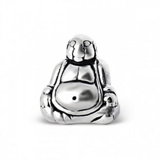 """Stříbrný korálek na náramek """"Stříbrný Buddha"""". Ag 925/1000"""