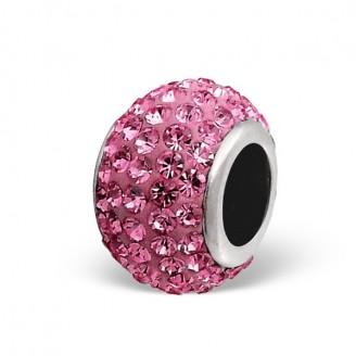 """Stříbrný korálek s krystaly na Pandora náramek """"Fulsi"""". Ag 925/1000"""