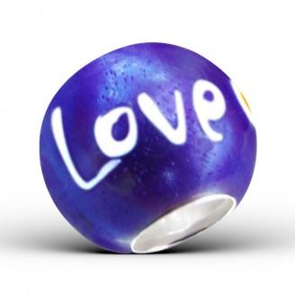 "Stříbrný korálek na Pandora náramek ""Love"". Ag 925/1000"