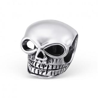 "Stříbrný korálek na Pandora náramek ""Lebka"". Ag 925/1000"
