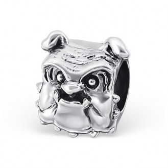 """Stříbrný korálek na náramek Pandora """"Buldog"""". Ag 925/1000"""