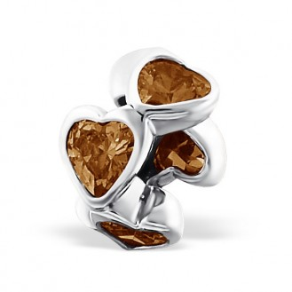 "Stříbrný korálek se zirkony na Pandora náramek ""Lady"". Ag 925/1000"