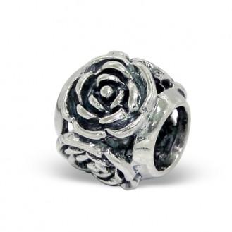 """Stříbrný přívěsek na Pandora náramek """"Květ růže"""". Ag 925/1000"""