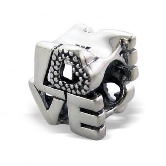 "Stříbrný korálek na Pandora náramek ""Love"".ox. Ag 925/1000"