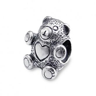 "Korálek stříbrný na náramek Pandora ""Medvídek"". Ag 925/1000"