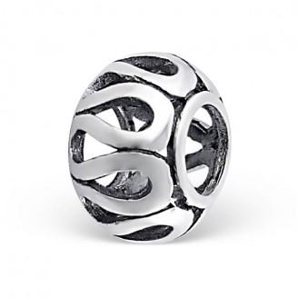 "Stříbrný korálek na náramek Pandora ""Teneo"". Ag 925/1000"