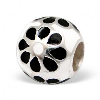 "Stříbrný korálek na náramek Pandora ""Ornella"". Ag 925/1000"