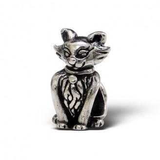 "Korálek stříbrný na náramek Pandora ""Kočička"". Ag 925/1000"