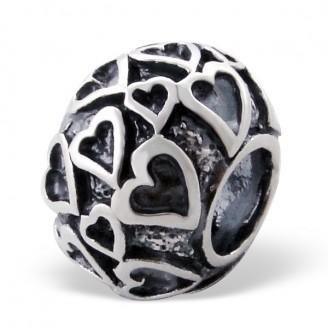 "Stříbrný korálek na náramek Pandora ""Liliana"". Ag 925/1000"
