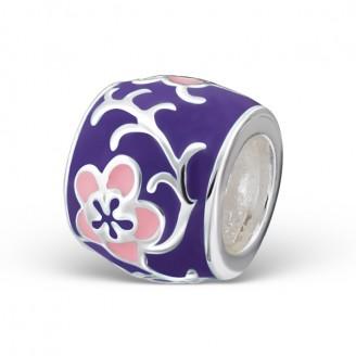 """Stříbrný korálek na Pandora náramek """"Květy jara"""" pur. Ag 925/1000"""